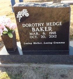 Dorothy <I>Hedge</I> Baker