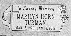 Marilyn <I>Horn</I> Turman