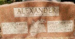 Christine Ellen <I>Cross</I> Alexander