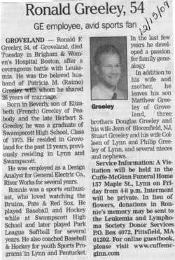 Ronald Folsom Greeley (1955-2009) - Find A Grave Memorial