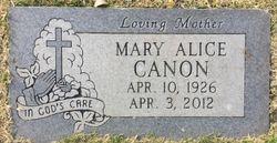 Mary Alice <I>Lake</I> Canon