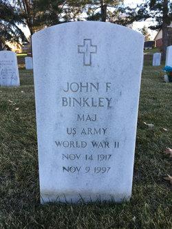 Maj John F. Binkley