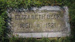 Elizabeth <I>Brinker</I> Beck