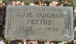 Allie Ann <I>Vaughan</I> Pettus