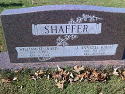 Jewell Annette <I>Bailey</I> Shaffer