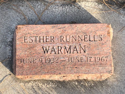 Esther Claire <I>Runnells</I> Warman