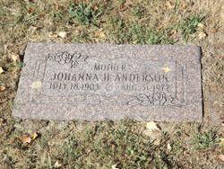 """Mrs Johanna H. """"Hanna"""" <I>Karth</I> Anderson"""