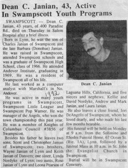 Dean C  Janian (1948-1992) - Find A Grave Memorial