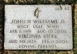 Virginia <I>Riedl</I> Williams