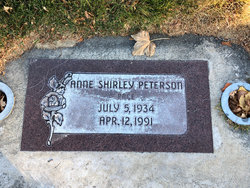 Anne Shirley <I>Peterson</I> Pace