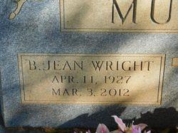 B. Jean <I>Wright</I> Murphy
