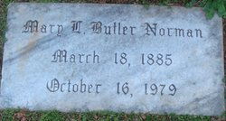 Mary L. <I>Butler</I> Norman