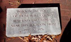 Wake County Home Cemetery
