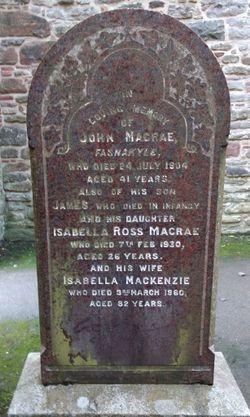 Isabella <I>MacKenzie</I> MacRae