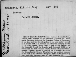 Dr Elliott Gray Brackett