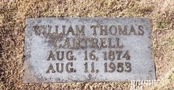 """William Thomas """"Red Eye"""" Cantrell"""