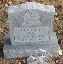 Chad Irl Bast 1970 1982 Find A Grave Memorial