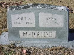 Anna <I>Higginbotham</I> McBride