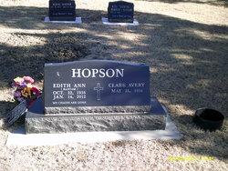 "Edith Ann ""Edie"" <I>Bantam</I> Hopson"