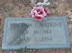Virginia <I>Lipscomb</I> Watkins