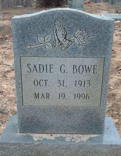 Sadie G. Bowe