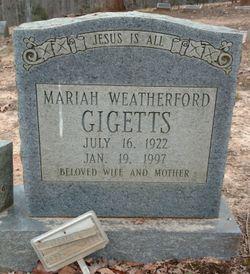 Mariah <I>Weatherford</I> Gigetts