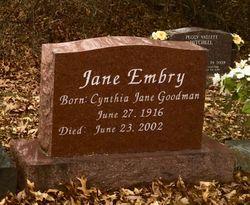 Cynthia Jane <I>Goodman</I> Embry