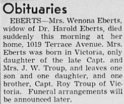 Winona Clara <I>Troup</I> Eberts