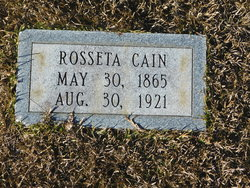Rosseta <I>Walker</I> Cain
