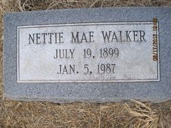 Nettie Mae <I>Warren</I> Walker