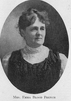 Mrs Emma A. <I>Blood</I> French