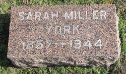 Sarah Ann <I>Miller</I> York