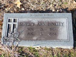 Shirley Ann <I>Jarman</I> Binkley