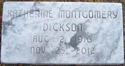 "Katherine ""Kat"" <I>Montgomery</I> Dickson"