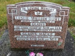 Leslie William Rowe