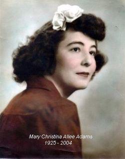 Mary Christine <I>Allee</I> Adams