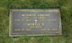 Myrtle D <I>Holbrook</I> Adkins