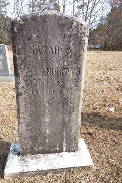 Sarah A <I>Strayhorn</I> Andrews