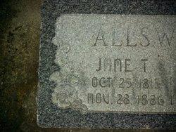 Jane <I>Tilly</I> Allsworth