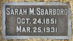 Sarah Ann <I>Clovis</I> Barboro
