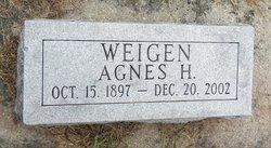 Agnes H. <I>Hovey</I> Weigen