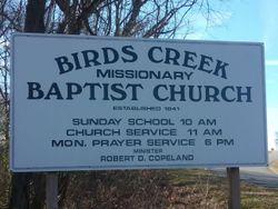 Birds Creek Missionary Baptist Church Cemetery