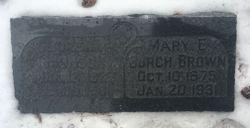 Mary Elizabeth <I>Burch</I> Brown