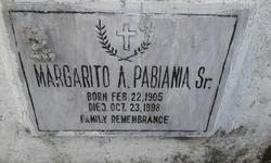 Margarito A Pabiania, Sr