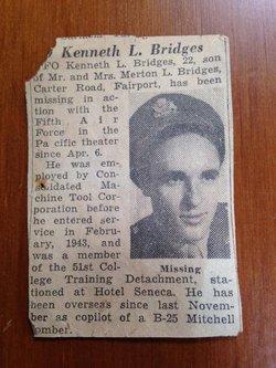 """FltOff Kenneth L """"Kenny"""" Bridges"""