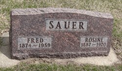 Rosine <I>Shillinger</I> Sauer