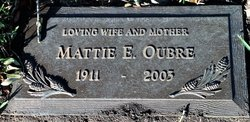 Mattie E. <I>Jones</I> Oubre
