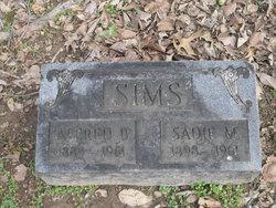 Sadie M Sims