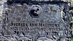 Barbara Ann Matthews