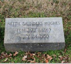 Nettie <I>Saunders</I> Hughes
